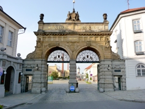 Pilsner Urquell main gate.  Photo by David J. Fred.
