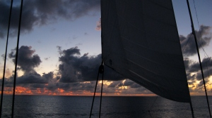 Wind Surf off St Lucia  (photo by RR Koops)
