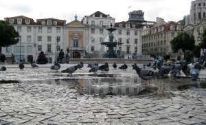 One of Lisbon's many squares (photo by RR Koops)