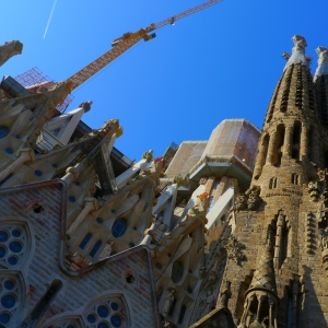 The unfinished La Familia Sagrada