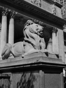 NYPL New York Public Library lion  Johanna Read TravelEater.net.JPG