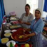 Hajiba teaching me to bake Moroccan style; photo by Rose Button