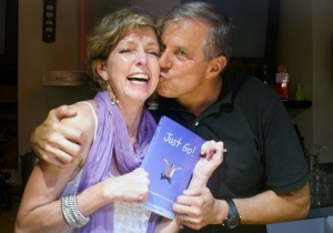 The authors with their brand new book: Just Go! Photo courtesy of Gabrielle Yetter