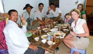 Cambodian meal; photo courtesy of Gabrielle Yetter