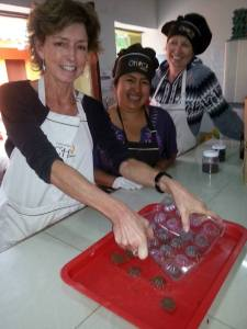 Making chocolates in Peru, photo courtesy of Gabrielle Yetter