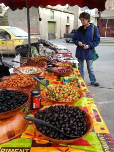 A market in France; photo courtesy of Gabrielle Yetter
