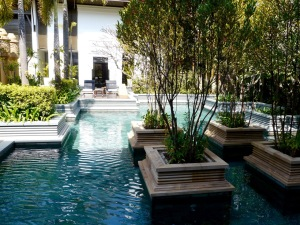 The spa pool, upstairs at the Park Hyatt Siem Reap, Cambodia