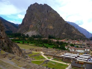 From the top of one set of Ollantaytambo ruins you can look across the valley to several others