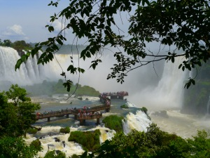 The end of the Brazilian side of the trail - the Devil's Throat, Iguazu Falls.
