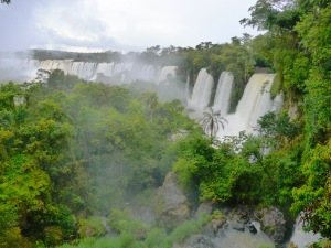 A stretch of Iguazu Falls, from the Argentine side