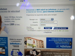 How to log in to MEX airport wifi