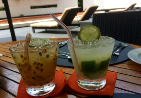 Caipirinhas passionfruit and lime Johanna Read TravelEater.net
