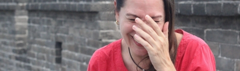 Johanna Read laughing in Pingyao China. Photo by Hilary Duff.