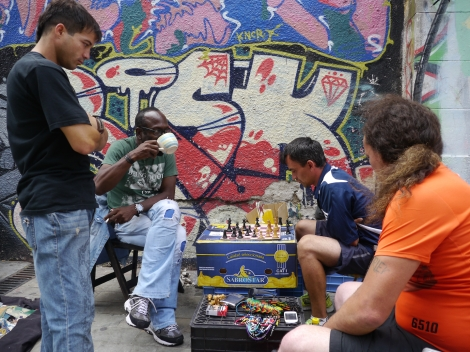 Chess on the street, Montevideo. Low res photo by Johanna Read TravelEater.net