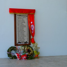 The memorial to the 22 victims of the March 18, 2015 attack. Photo by Johanna Read TravelEater.net