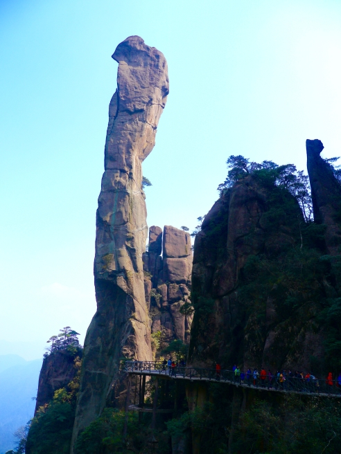 Anaconda pillar Mount Sanqingshan China. Photo by Johanna Read TravelEater.net.jpg