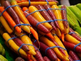 Carrots, Seattle Farmers' Market. Photo by Johanna Read TravelEater.net
