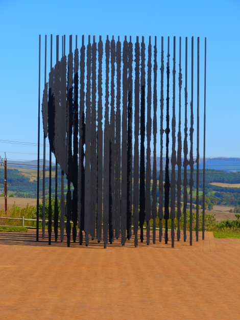 Nelson Mandela Capture Site sculpture. Photo by Johanna Read TravelEater.net