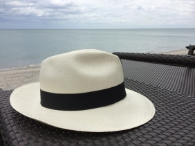 Panama Hat on the beach at Buenaventura Resort. Photo by Johanna Read TravelEater.net