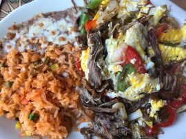 Machaca for brunch at the Mexican place down the street