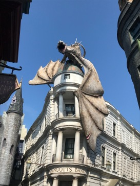 Gringotts dragon Wizarding World Universal Orlando. Photo by Johanna Read TravelEater.net