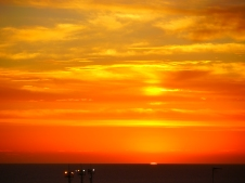 Sunset Rio de la Plata, Montevideo Uruguay. Photo by Johanna Read TravelEater.net